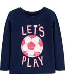 carters Baby Girl Let's Play Soccer Jersey Tee