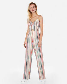 Express striped cut-out jumpsuit