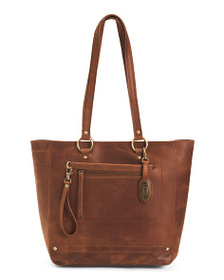 BORN Distressed Wellsley Leather Tote