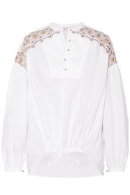 TORY BURCH Embroidered cotton blouse