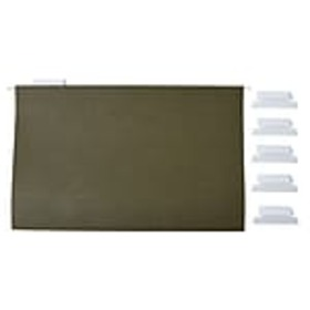 Staples Hanging File Folders, 5 Tab, Legal Size, S