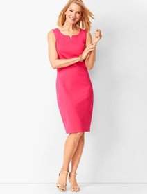 Talbots Split-Neck Refined Ponte Sheath Dress - So