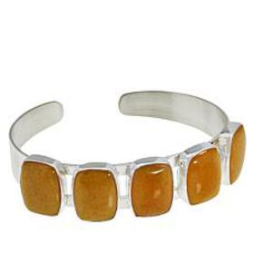 Jay King Sterling Silver Butterscotch Amber Cuff
