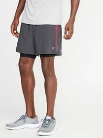 2-in-1 Go-Dry 4-Way Stretch Run Shorts for Men - 7