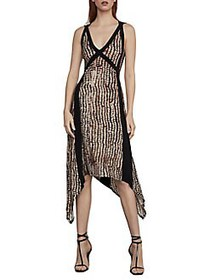 BCBGMAXAZRIA Sandy Dots Asymmetric Dress SANDY DOT