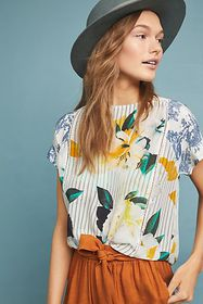 Anthropologie Southern Silk Blouse