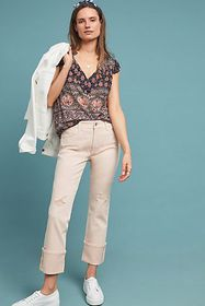 Anthropologie Pilcro High-Rise Slim Straight Jeans