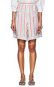 Thierry Colson Simbad Striped Silk Bermuda Shorts
