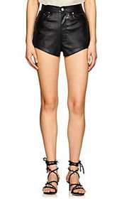BLINDNESS Faux-Leather 5-Pocket Shorts