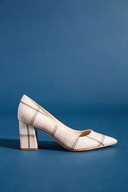 Anthropologie Marc Fisher Zala Plaid Heels