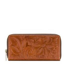 Patricia Nash Lauria Leather Zip-Around Tooled Wal