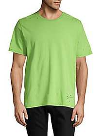 Ovadia & Sons Distressed Cotton Tee LIME