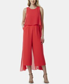 Tahari ASL Cropped Cape Jumpsuit, Created for Macy