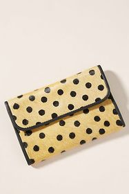 Anthropologie Delilah Polka Dot Foldover Clutch
