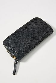 Anthropologie Campomaggi Woven Zip Wallet