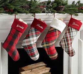 Pottery Barn Personalized Plaid Stockings