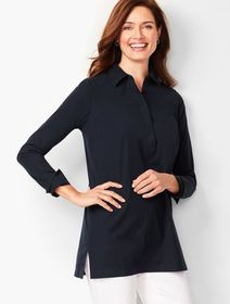 Talbots Perfect Button-Back Tunic - Solid