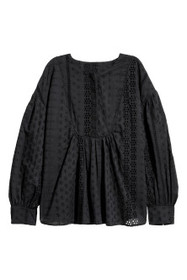 Blouse with Eyelet Embroidery