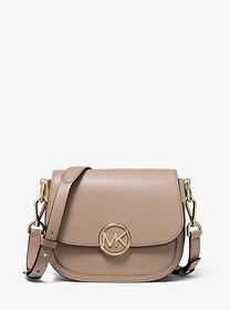 Michael Kors Lillie Small Leather Saddle Bag