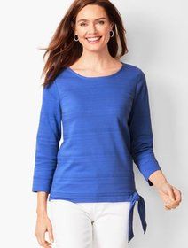 Talbots Textured Tie-Hem Top