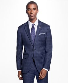 Brooks Brothers Milano Fit Plaid 1818 Suit