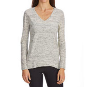 G.H. BASS & CO. Women's Mixed Media V-Neck Long-Sl