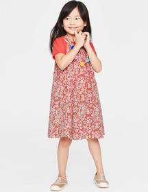 Boden T-Shirt and Printed Dress Set