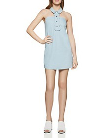 BCBGENERATION - Scalloped Denim Dress