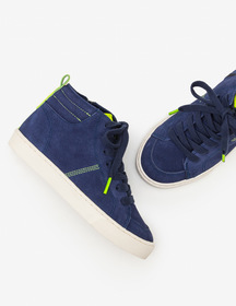 Boden Suede High Top Sneakers