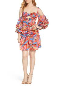Bronx and Banco Catalina Floral Print Party Dress