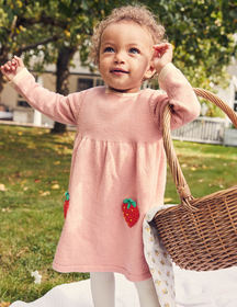 Boden Crochet Strawberry Dress