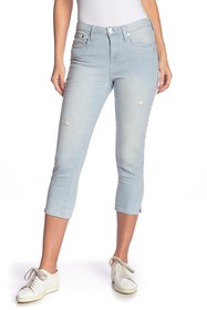 Seven7 Distressed Stripe Cropped Jeans