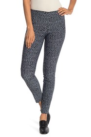 Tractr Leopard Print Back Zip Pull-On Pants