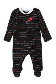 Nike Just Do It Footed Coverall (Baby Girls)