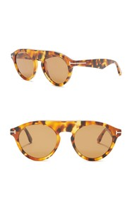 Tom Ford Christopher 49mm Round Sunglasses