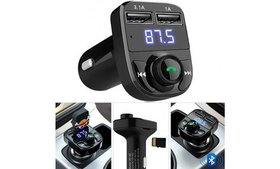Bluetooth Wireless Dual USB Charger FM Transmitter