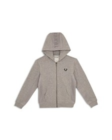 True Religion - Boys' French Terry Hoodie with Mes