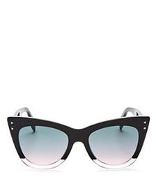 Fendi - Women's Two Tone Cat Eye Sunglasses, 50mm