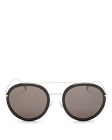 Fendi - Women's Combo Round Sunglasses with Brow B