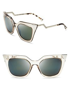 Fendi - Women's Mirrored Geometric Sunglasses, 52m