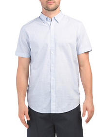 BEN SHERMAN Short Sleeve Star Geo Print Shirt