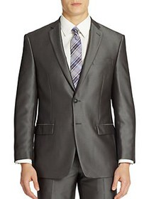 Calvin Klein Pinstripe Suit Jacket MEDIUM GREY