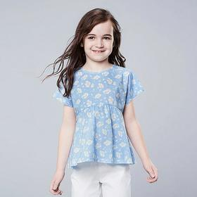 GIRLS STUDIO SANDERSON FOR UNIQLO SHORT-SLEEVE BLO