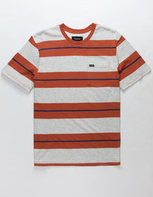 BRIXTON Hilt Rust Mens Pocket Tee_