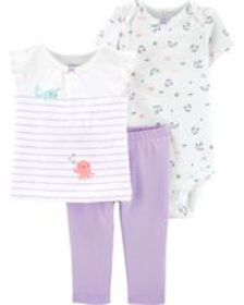carters Baby Girl 3-Piece Jellyfish Little Charact