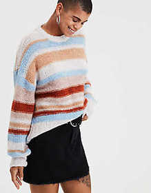 American Eagle AE Multi-Stripe Pullover Sweater