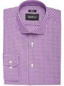 Awearness Kenneth Cole Lavender Check Slim Fit Dre