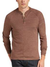 Joseph Abboud Autumn Brown Henley Sweater