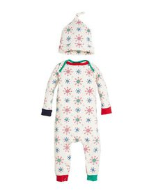Bedhead Holiday Snowflake Coverall w/ Matching Hat
