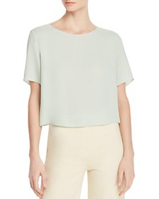 Theory - Silk Easy Woven Cropped Tee